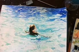 speed painting watercolor swimming youtube