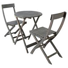 Garden Table Acacia Garden Table 2 Chairs In Grey D 39cm St Malo Maisons Du