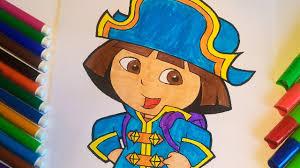 dora the explorer coloring pages for kids dora u0027s pirate adventure