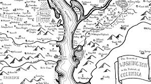 map of us cities maps of u s cities done in the style of j r r tolkien are a