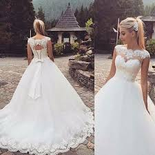 wedding dress popular 2018 white ivory wedding dress bridal gown stock size