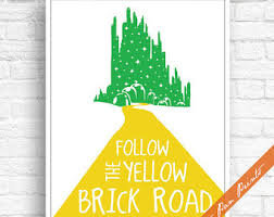 printable yellow brick road digital background yellow brick road wizard of oz inspired