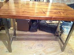 furniture awesome butcher block desk designs custom decor