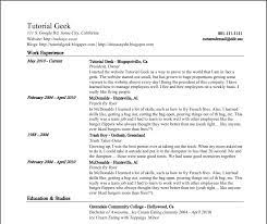 Google Resume Builder Google Documents Resume Best Template Collection