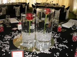 Diamond Wedding Party Decorations Red And Black Table Decorations Trentham Estate Wedding 80th B