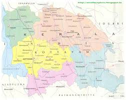 South India Map by Kottayam Tourism Map Tourist Places In Kottayam Kerala