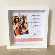 friendship quote photo frame letter box creations u2014 strong friendship quote