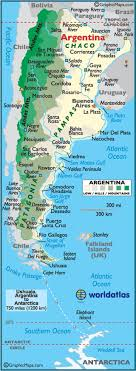 physical map of argentina geography of argentina landforms world atlas