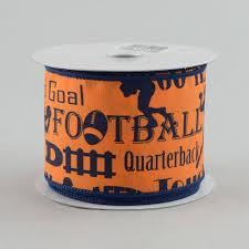 football ribbon 2 5 football touchdown ribbon orange blue 10 yards rg1478cf