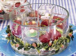 Summer Garden Party Ideas - holiday romance in miniature summer candle centerpiece ideas