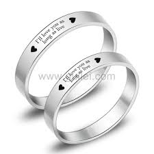 promise ring sets engravable promise rings for couples engraved titanium matching