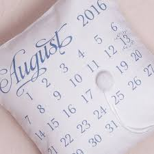 wedding date notable personalised ring cushion with wedding date design
