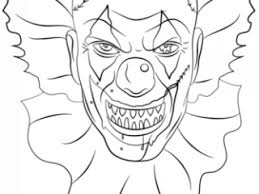 coloring pages of scary clowns scary clown coloring page free