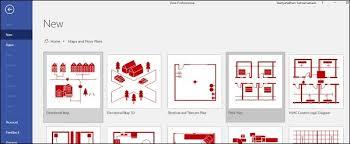 microsoft visio creating a floor plan