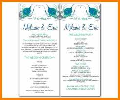 Easy Wedding Program Template Wedding Program Template Word Template