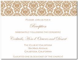 Reception Cards Wedding Invitation Reception Card Wording Paperinvite