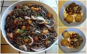cuisiner lentille recette salade de lentilles et cou de canard confit recette salade