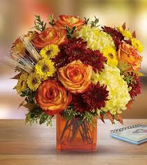Fall Flowers Send Fall Flowers Cube Flowers By Steen