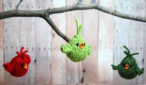 bird ornament knit ornaments decor knit