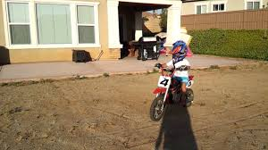 Anthony 5yr Old Kid Learn To Ride Razor Mx500 Dirt Rocket