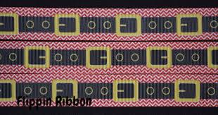 santa belt ribbon chevron santa belt ribbon 7 8 inch printed grosgrain ribbon