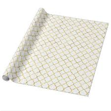 quatrefoil wrapping paper gold quatrefoil wrapping paper zazzle