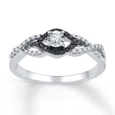 black diamond promise ring jared black white diamonds 1 5 ct tw promise ring sterling silver