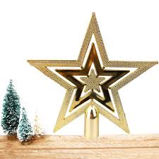 compare prices on gold star tree topper online shopping buy low soledi christmas tree decorative topper star gold home table ornament lovely shiny christmas decorations for home