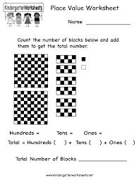place value worksheet free kindergarten math worksheet for kids