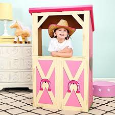 Barn Prop On Sale Pink Cowgirl Room Decorations Barn Stable Cardboard