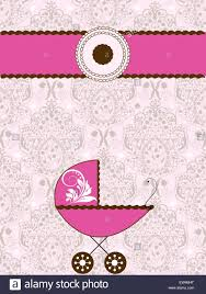 pink invitation card vintage baby shower invitation card with ornate elegant abstract