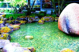 raining on green pond granite boulder red west microsoft campus