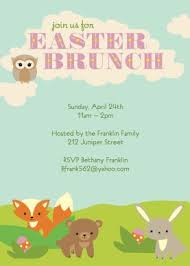 easter brunch invitations printable woodland easter brunch invitation template