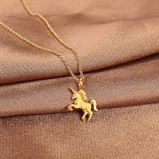 choker necklace with charms images Cute unicorn horse choker necklace colar kolye nnecklaces jpg