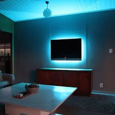 ambient light behind tv fab com glo belt the glo belt turns your flat screen into a mood