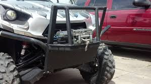 homemade jeep bumper homemade brush guard kawasaki teryx forum