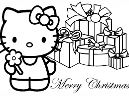 christmas coloring pages hello kitty coloring page for kids