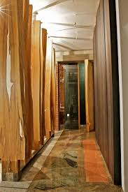 Wooden Wall Coverings by Architecture Corridor With Black Chocolate Wood Wall Covering And