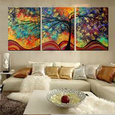 Large Wall Art Home Decor Abstract Tree Painting Colorful - Wall paintings for home decoration