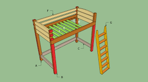 Plans For Making A Loft Bed by How To Build A Loft Bed With Stairs Howtospecialist How To