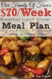 57 best meal plans images on pinterest