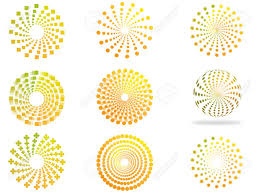 creative circles based on yellow orange green color scheme to
