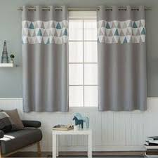 Patterned Blackout Curtains Fish Patterned Curtains Grommet Curtains 1pair