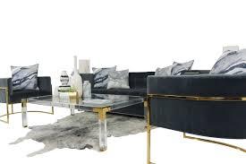 modern wide sofa in charcoal velvet modshop