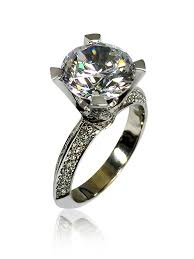 Cubic Zirconia Wedding Rings by Cubic Zirconia Rings Engagement Rings 3 Carat Round Cubic