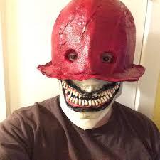 prosthetic halloween mask making the crooked man mask horror amino