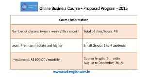 5 hours class online business course online program 2015