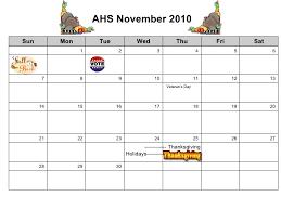 10 11 ahs calendar