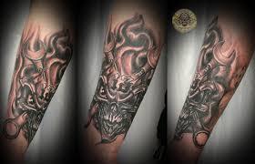 skull tool flames tat by 2face on deviantart