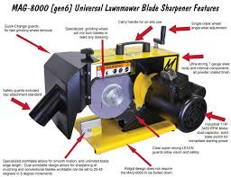 Sharpening Wheel For Bench Grinder Mag 8000 Features Magna Matic Lawn Mower Blade Sharpeners And